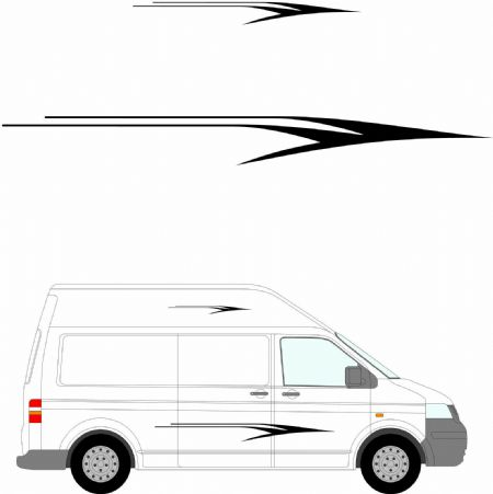 (No.206) MOTORHOME GRAPHICS STICKERS DECALS CAMPER VAN CARAVAN UNIVERSAL FITTING